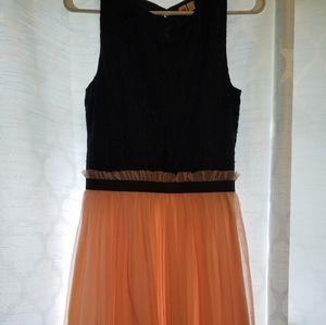 DRess with tutu type material on bottom